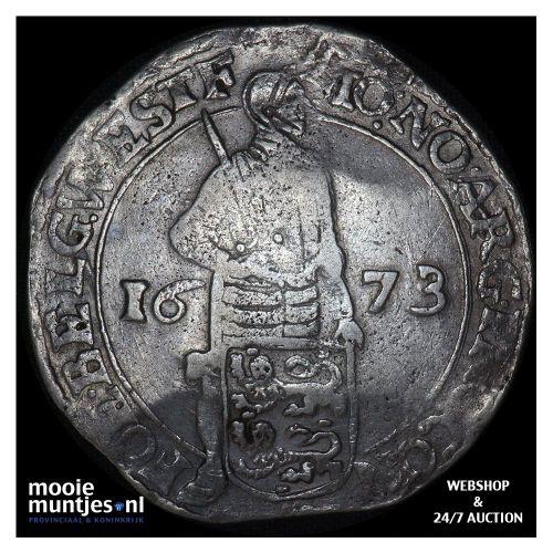 West-Friesland - Zilveren dukaat - 1673 (kant A)