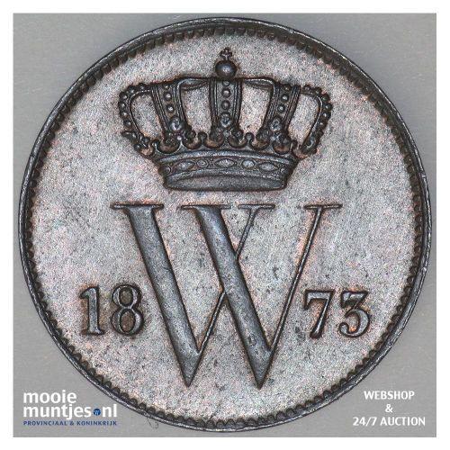 1 cent - Willem III - 1873 (kant A)