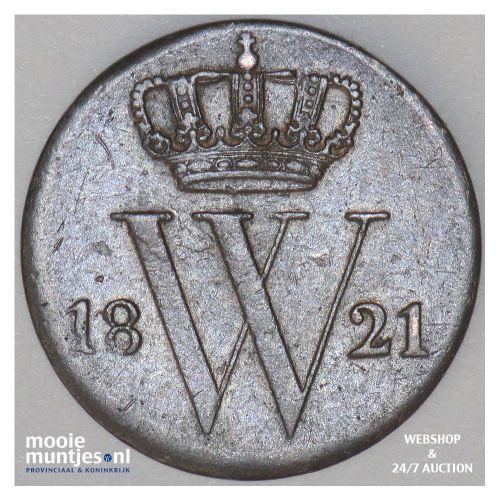 ½ cent - Willem I - 1821 Utrecht (kant A)