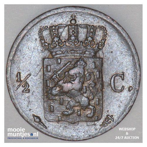 ½ cent - Willem I - 1821 Utrecht (kant B)