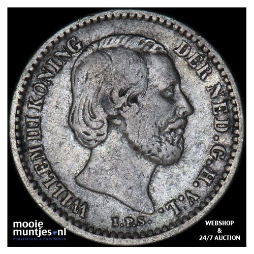 10 cent - Willem III - 1863 (kant B)