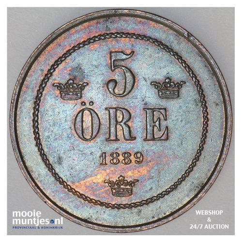 5 ore - Sweden 1889 (KM 736) (kant A)