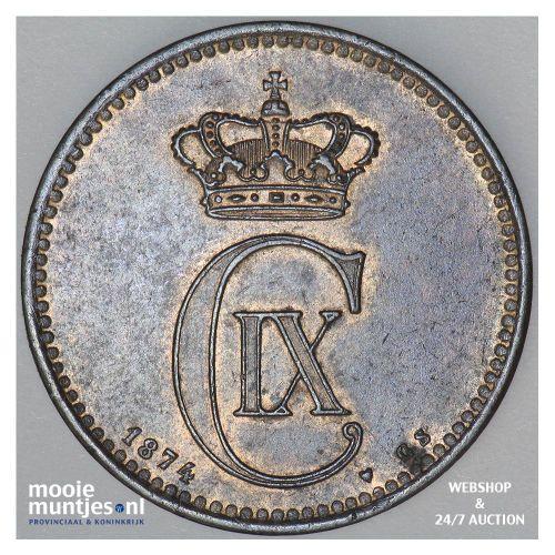 5 ore - Denmark 1874 (KM 794.1) (kant A)