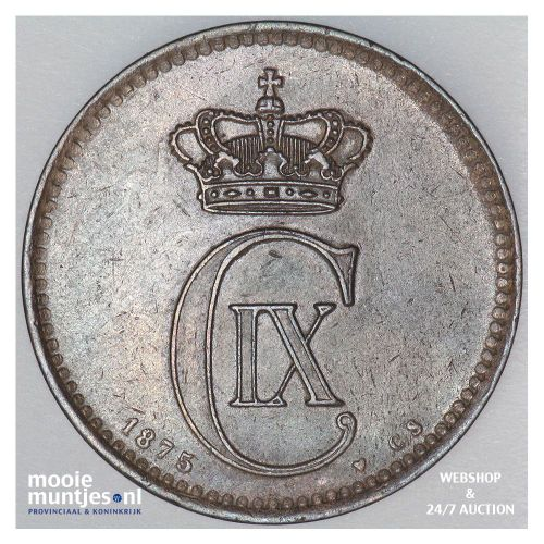5 ore - Denmark 1875 (KM 794.1) (kant A)