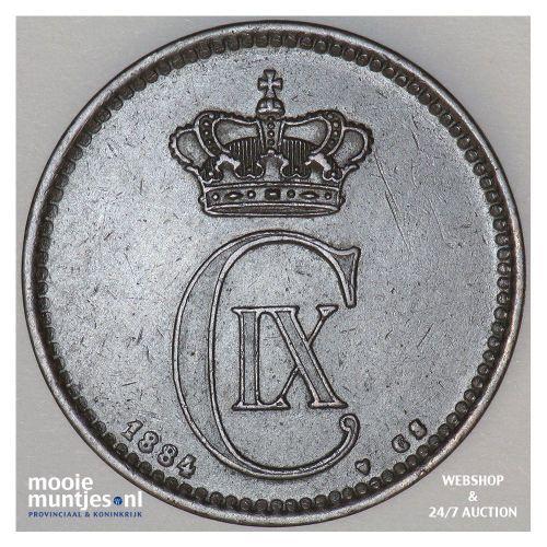 5 ore - Denmark 1884 (KM 794.1) (kant A)