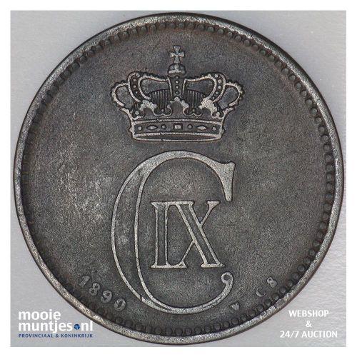 5 ore - Denmark 1890 (KM 794.1) (kant A)