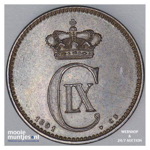 5 ore - Denmark 1891 (KM 794.1) (kant A)