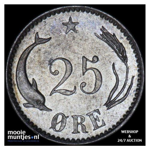 25 ore - Denmark 1891 (KM 796.1) (kant B)