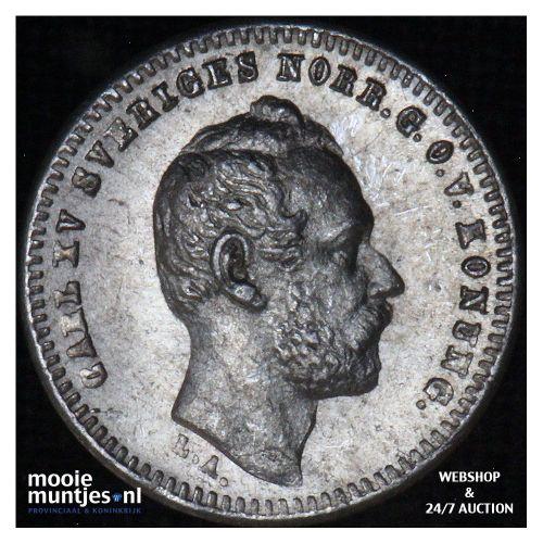 10 ore - Sweden 1865 (KM 710) (kant B)