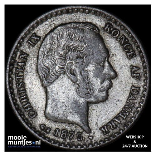 10 ore - Denmark 1875 (KM 795.1) (kant A)