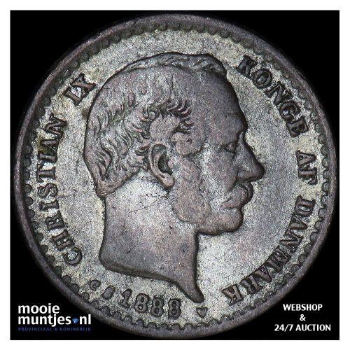 10 ore - Denmark 1888 (KM 795.1) (kant A)