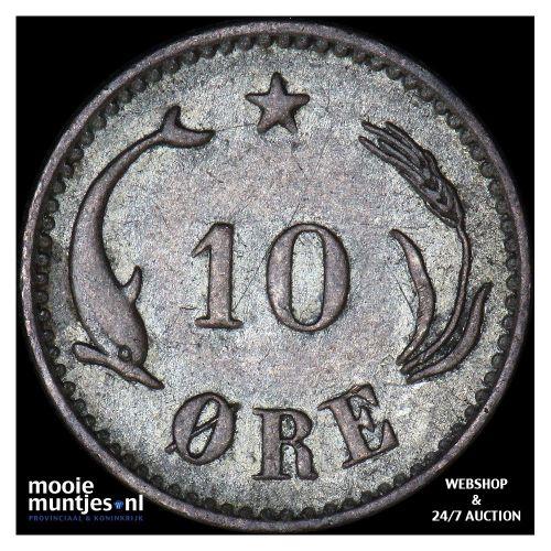 10 ore - Denmark 1888 (KM 795.1) (kant B)