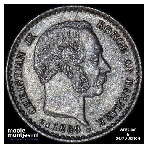 10 ore - Denmark 1889 (KM 795.1) (kant A)