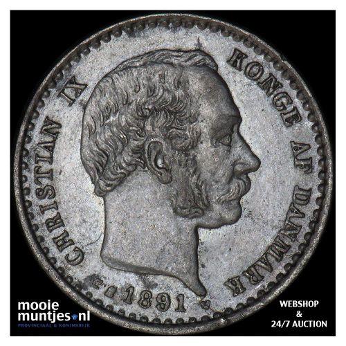 10 ore - Denmark 1891 (KM 795.1) (kant A)