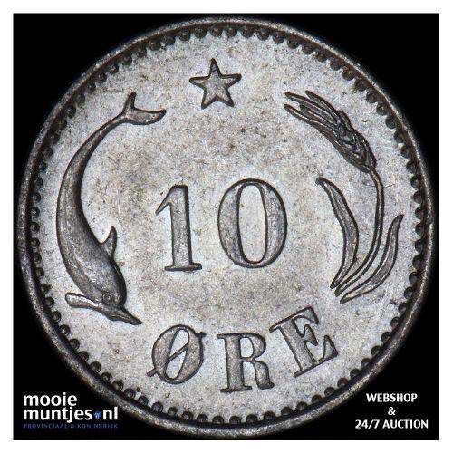 10 ore - Denmark 1894 (KM 795.2) (kant B)
