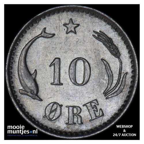 10 ore - Denmark 1897 (KM 795.2) (kant B)