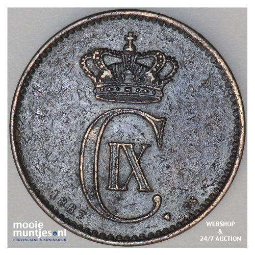 2 ore - Denmark 1887 (KM 793.1) (kant A)