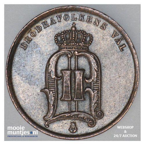 2 ore - Sweden 1875 over 74 (KM 735) (kant B)