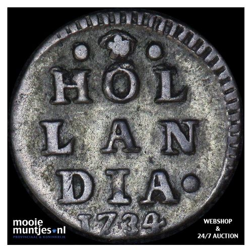 Holland - Wapenstuiver - 1734 over 33 (kant A)
