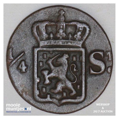 Nederlands-Indië - ¼ Stuiver - 1836 S (kant B)