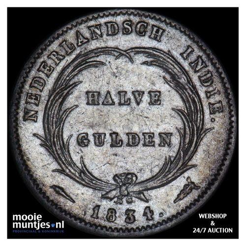 Nederlands-Indië - ½ gulden - 1834 (kant A)