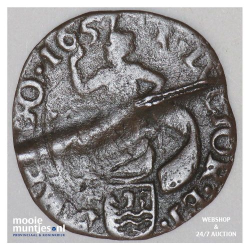Zeeland - Duit - 1657 (kant A)