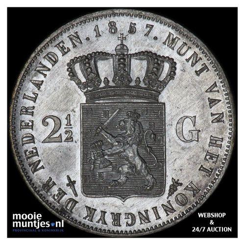 2½ gulden - Willem III - 1857 (kant A)