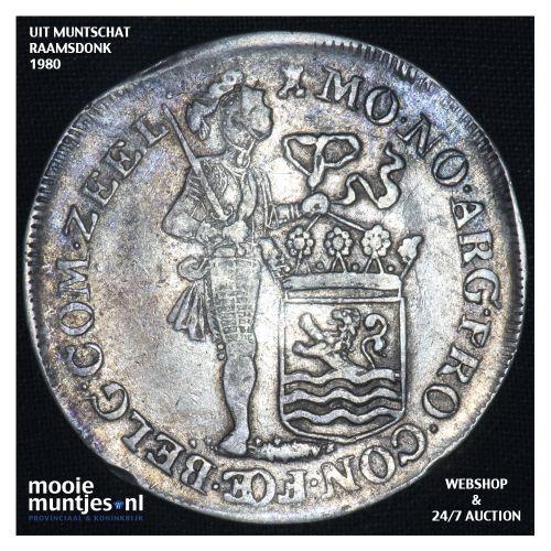 Zeeland - Zilveren dukaat - 1738 (kant B)