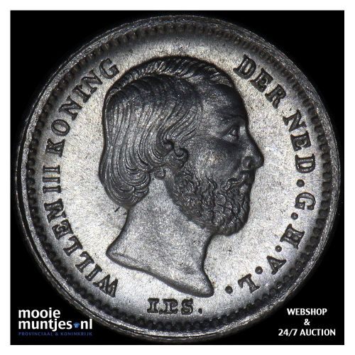 5 cent - Willem III - 1887 (kant B)