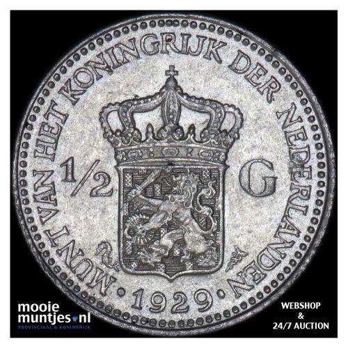 ½ gulden - Wilhelmina - 1921 (kant A)
