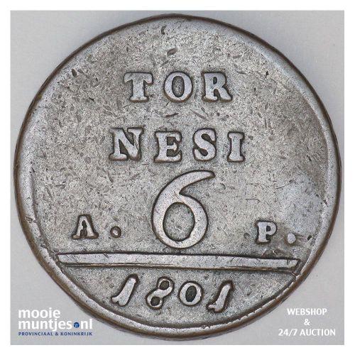 6 tornesi - Italian States/Naples 1801 (KM 229) (kant A)