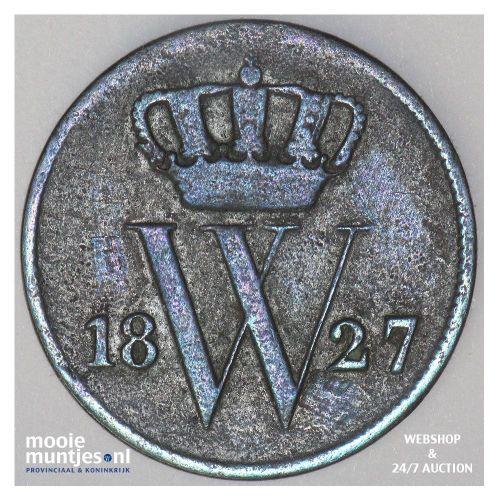 1 cent - Willem I - 1827 Brussel (kant A)