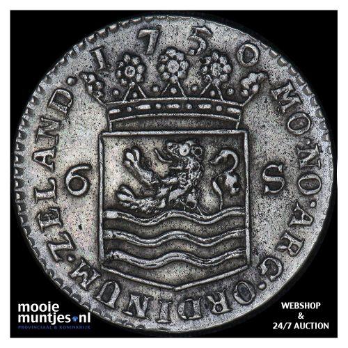 Zeeland - Scheepjesschelling - 1750 over 46 (kant A)