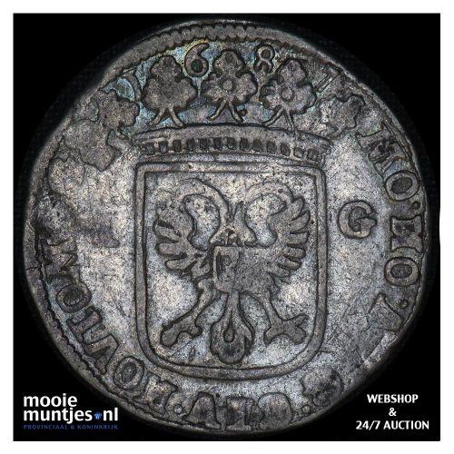 Nijmegen - Stedelijke gulden - 1687 (kant A)