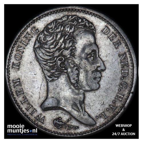 1 gulden - Willem I - 1824 a (kant B)