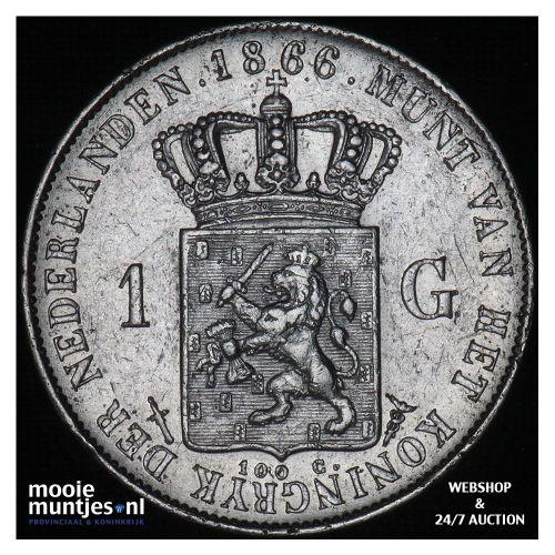 1 gulden - Willem III - 1866 (kant A)