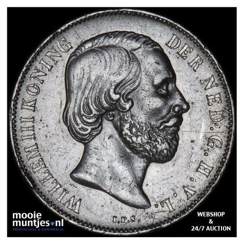 1 gulden - Willem III - 1866 (kant B)