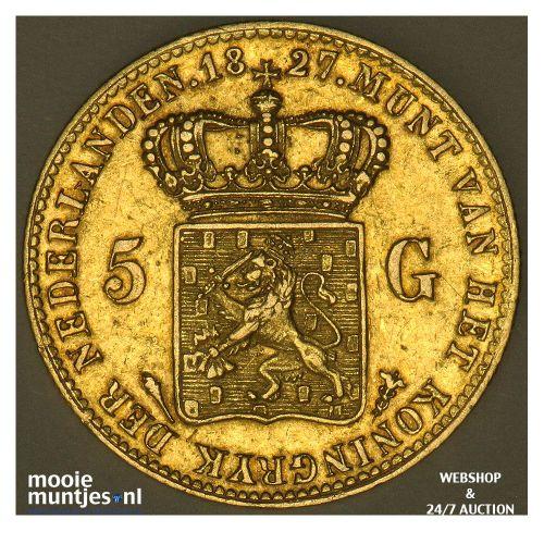 5 gulden - Willem I - 1827 Utrecht (kant A)