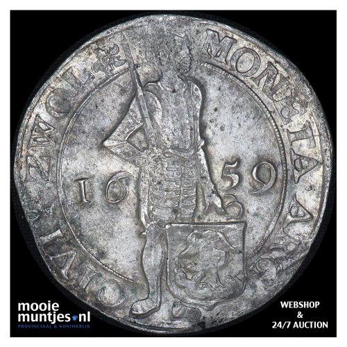 Zwolle - Zilveren dukaat - 1659 (kant A)