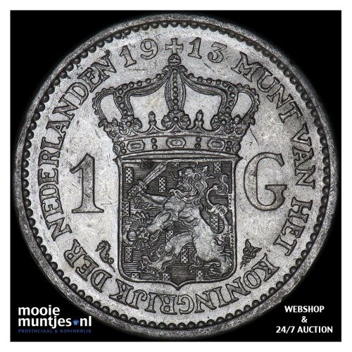 1 gulden - Wilhelmina - 1911 (kant A)