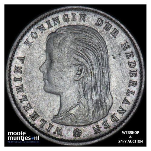 25 cent - Wilhelmina - 1898 (kant B)