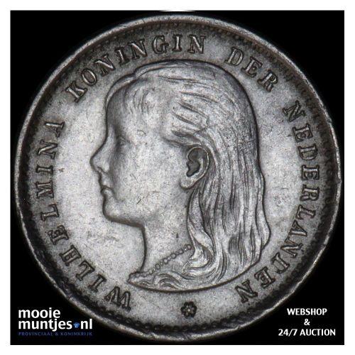 10 cent - Wilhelmina - 1893 (kant B)