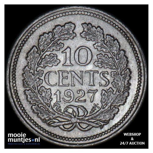 10 cent - Wilhelmina - 1927 (kant A)