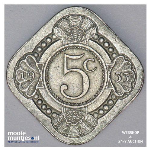 5 cent - Wilhelmina - 1907 (kant A)