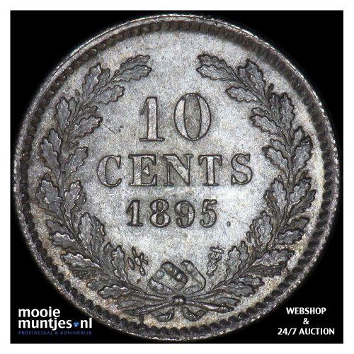 10 cent - Wilhelmina - 1895 (kant A)