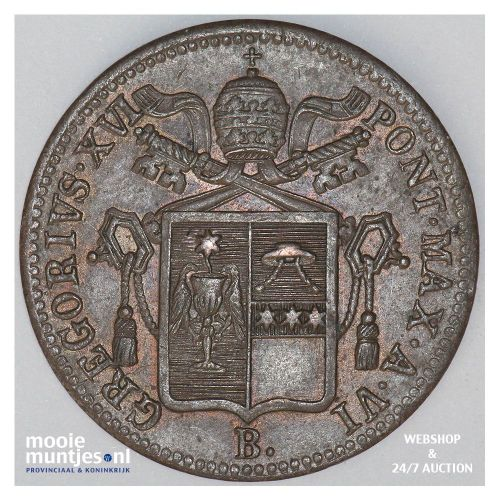 baiocco - Italian States/Papal States 1836 VIR (KM 1320) (kant B)