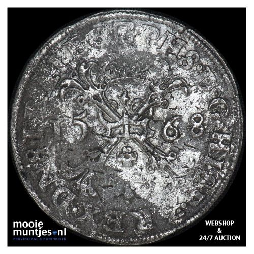 Utrecht - Bourgondische kruisdaalder - 1568 (kant A)