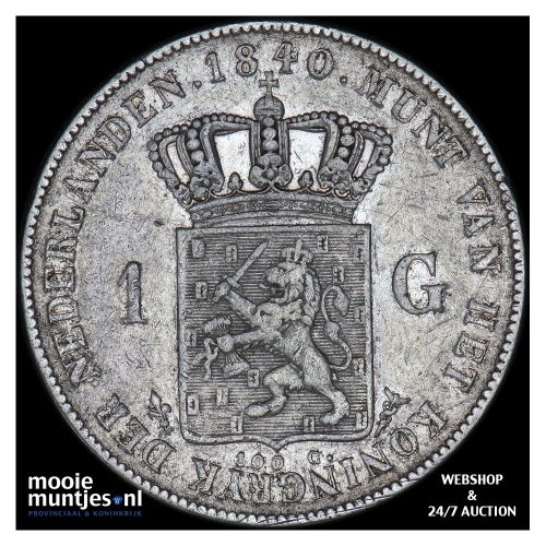 1 gulden - Willem I - 1840 (kant A)