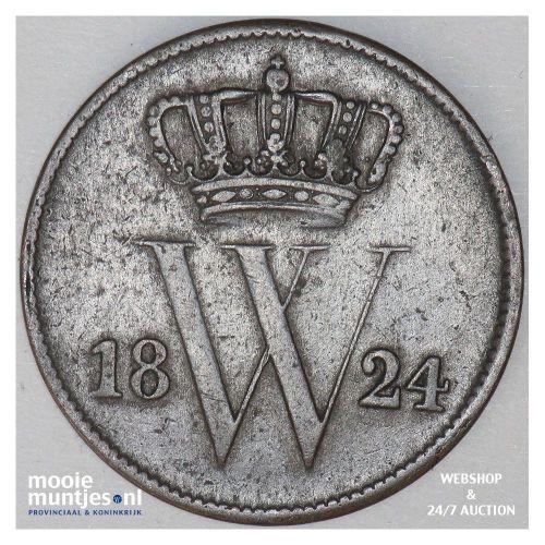 1 cent - Willem I - 1824 Utrecht (kant A)