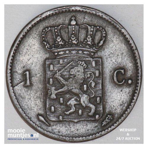 1 cent - Willem I - 1824 Utrecht (kant B)